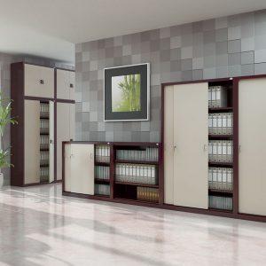 Kancelárske skrine s posuvnými dverami